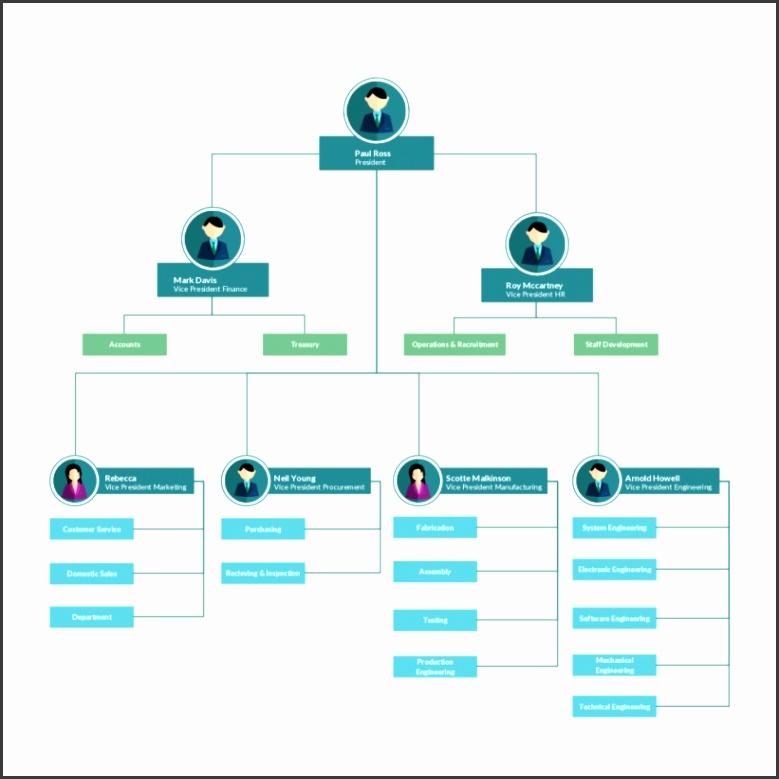 Organizational Chart Template for Enterprise Landing