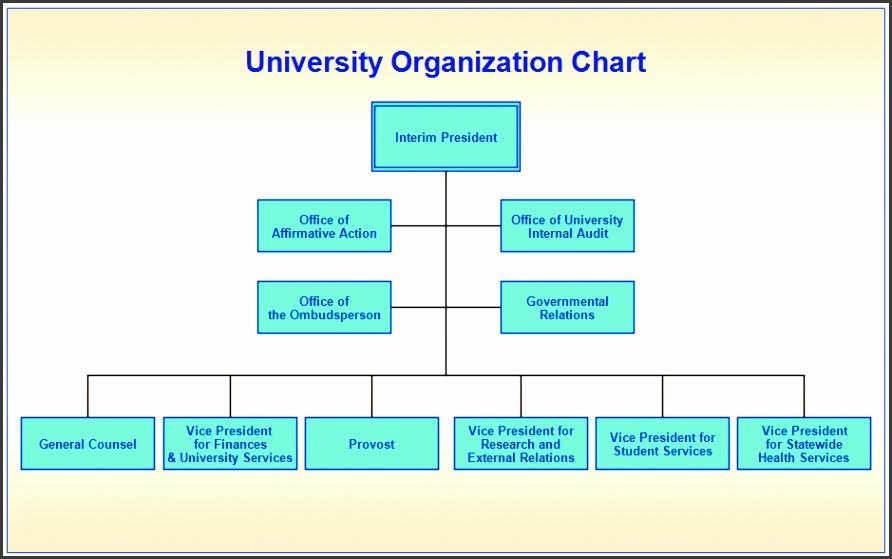 university orgchart