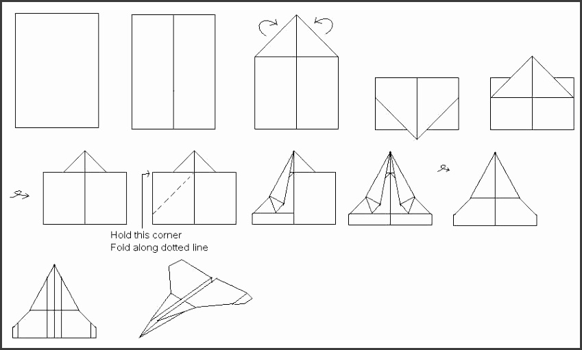 Paper Airplane Template