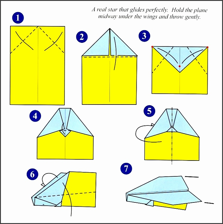 Paper Airplane Templates Printable for How To Fold Paper Airplanes