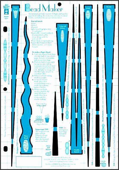 DIY paper bead template