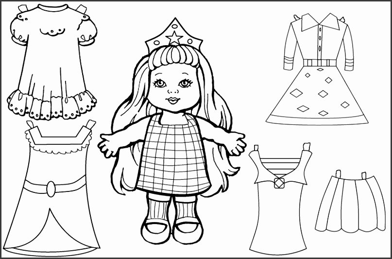 Free Printable Paper Doll Templates Cool2bKids