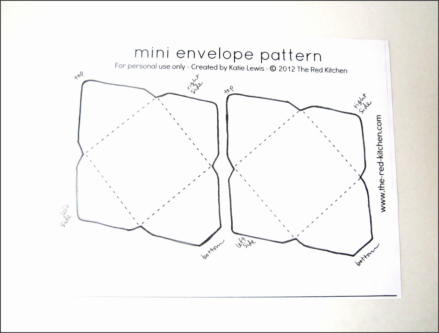 DIY Mini Envelopes Free Printable Pattern & Tutorial