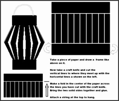 Paper Lantern Craft Template Paper Lanterns