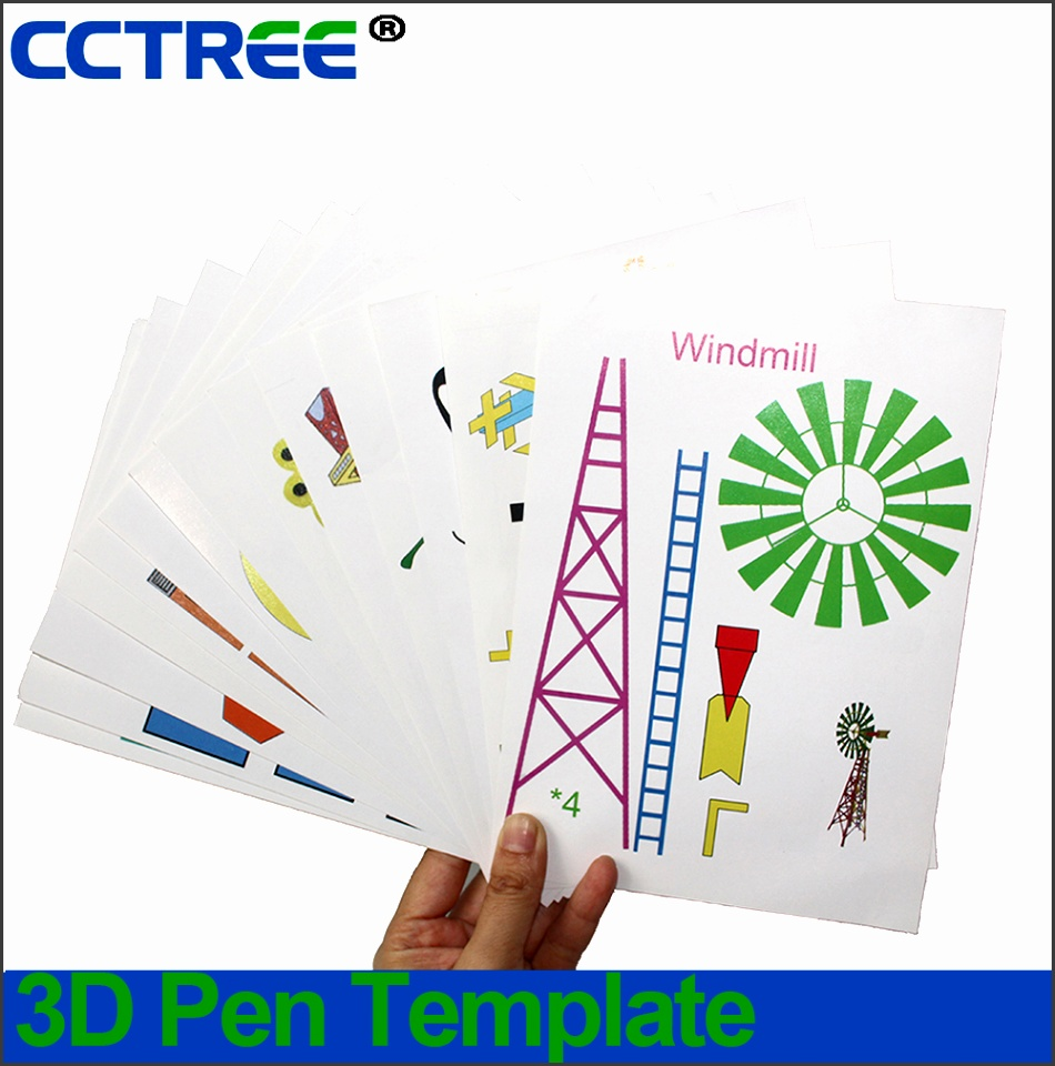 CCTREE 3D Pen Template 3D Drawing pen paper model 3D Printer pen printing Pad 30 different designs 15paper 1pad in 3D Printing Materials from puter