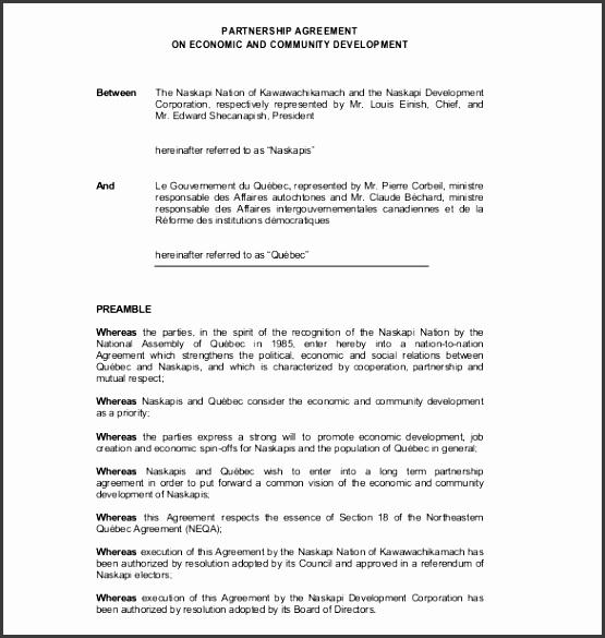 channel partner agreement template 12 partnership agreement templates free sample example format