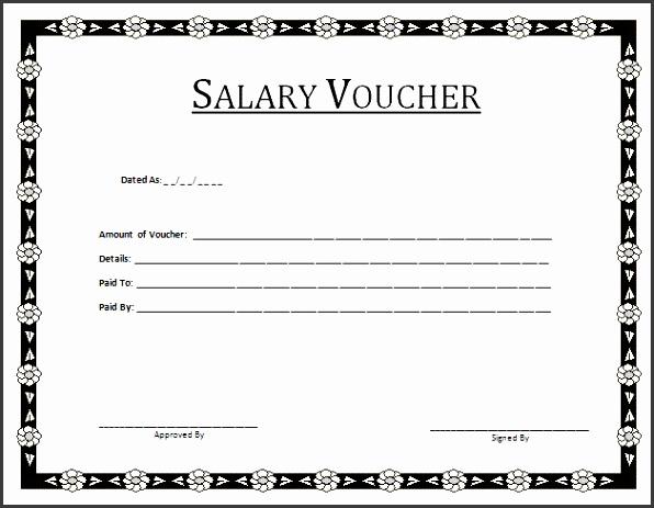 Salary Voucher Template