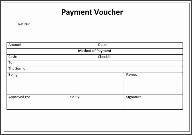 Here is preview of This First Sample Payment Voucher Template created using MS Word