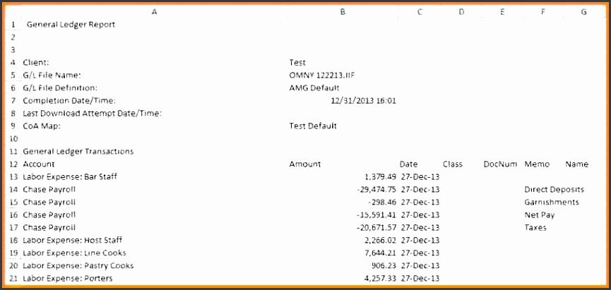 Payroll Ledger Template Bffe 4 Payroll Journal Entry Templates