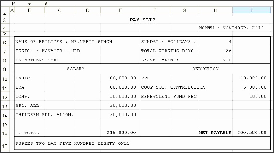 Salary Slip Template in Excel Format Benefits Omair Iqbal Pulse