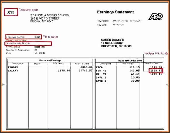 4 payroll pay stub template