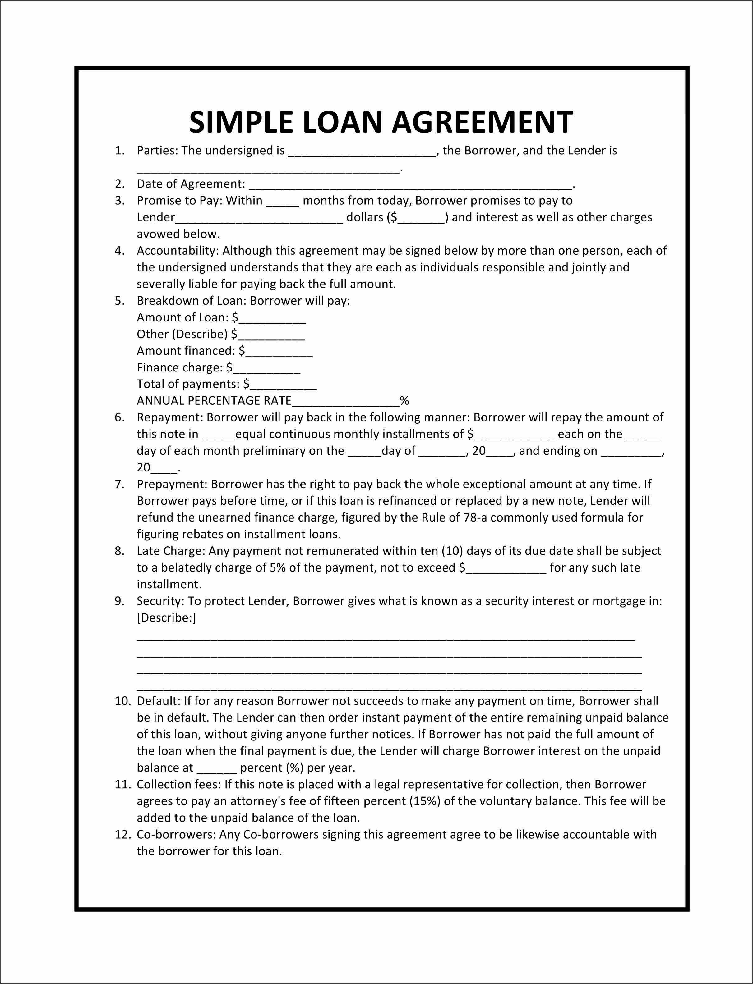 Loan Agreement Free Template Uk Staff South Africa Form Pdf Nz Australia Contract Word Personal
