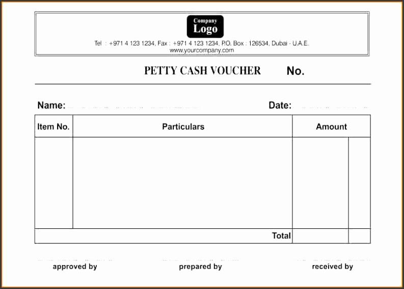 6 petty cash receipt form