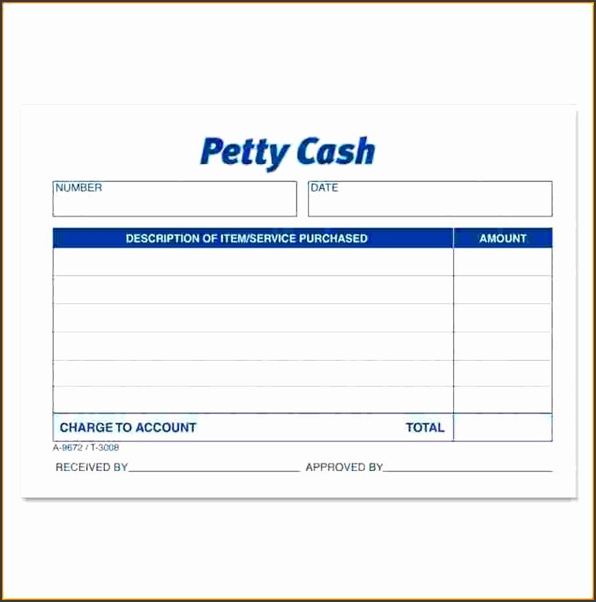 """Petty Cash Receipt Pad 50 Sheets Gummed 2 83"""" X Cash Receipt Form"""