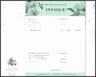 Invoice template graphy invoice Receipt template for graphers Business invoice graphy forms