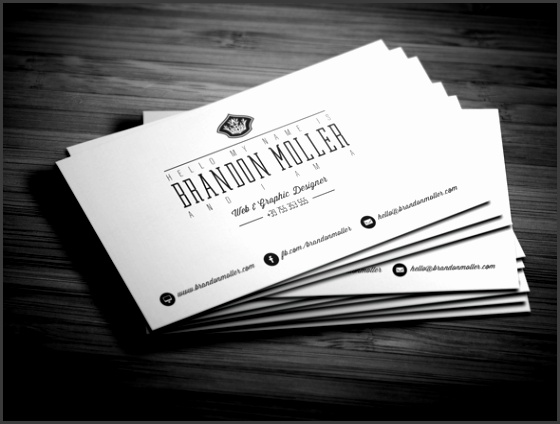 Divide Minimalistic Business Card FREE PSD Template