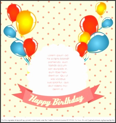 Birthday Card Invitation Template Free Download Templates Corner