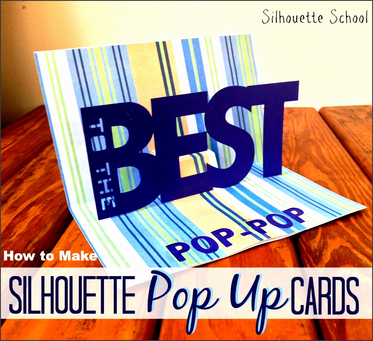 Basic Silhouette Pop Up Card Tutorial Free Studio Pop Up Template