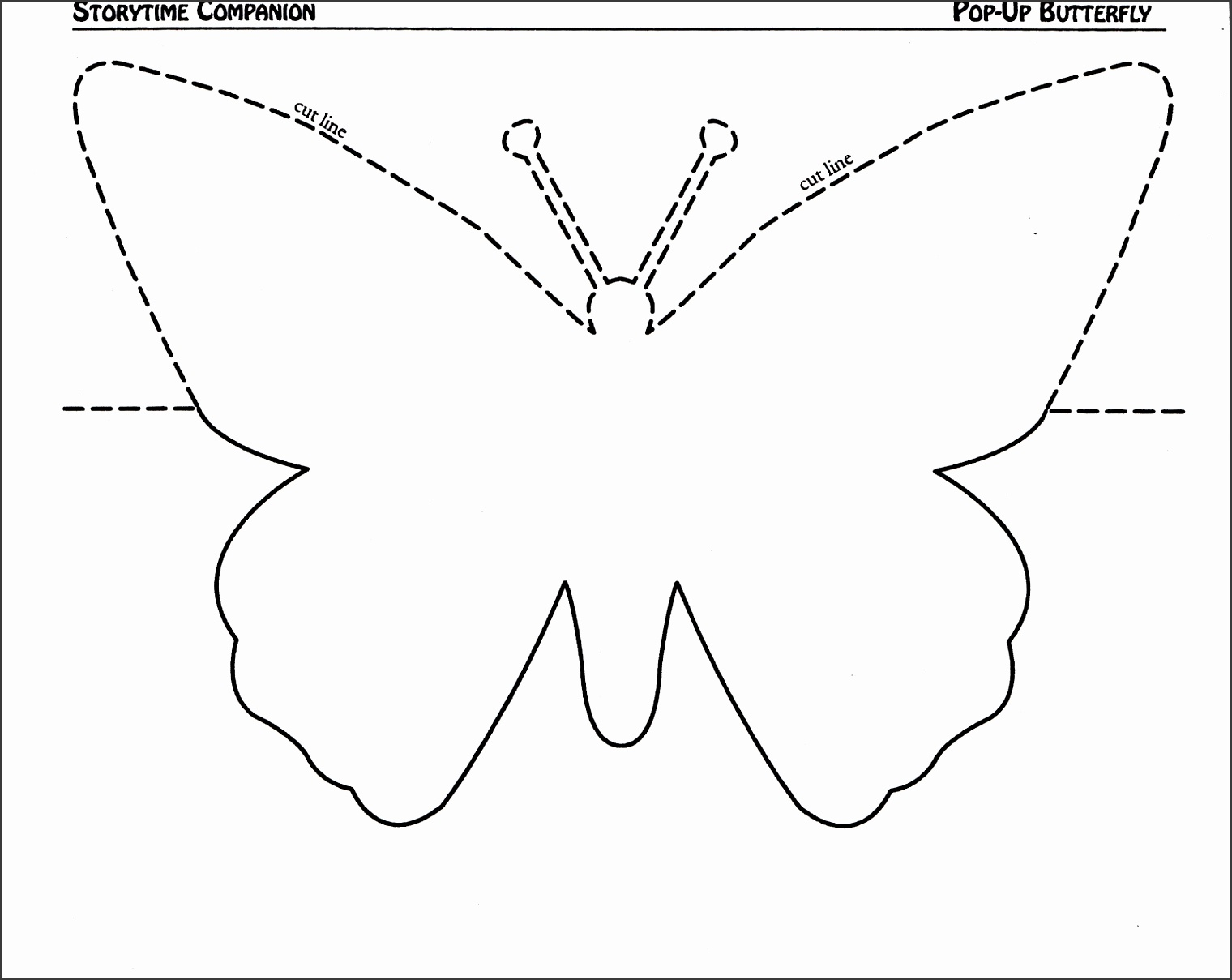 Pop Up Butterfly Card Template via Butterfly Stencil Template