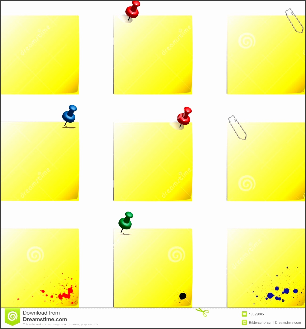 Post It Templates Stock Vector Image Background Illustration pertaining to Post It Note