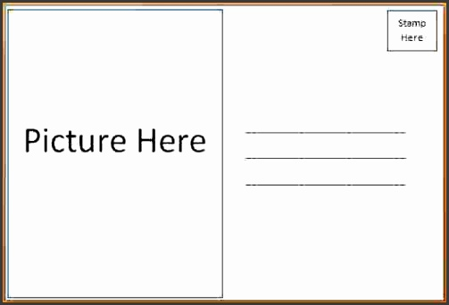 10 microsoft word postcard template