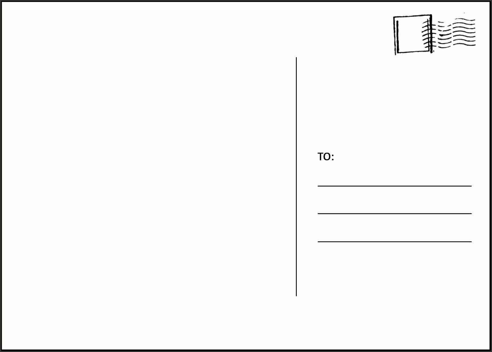 postcard1 postcard template for word