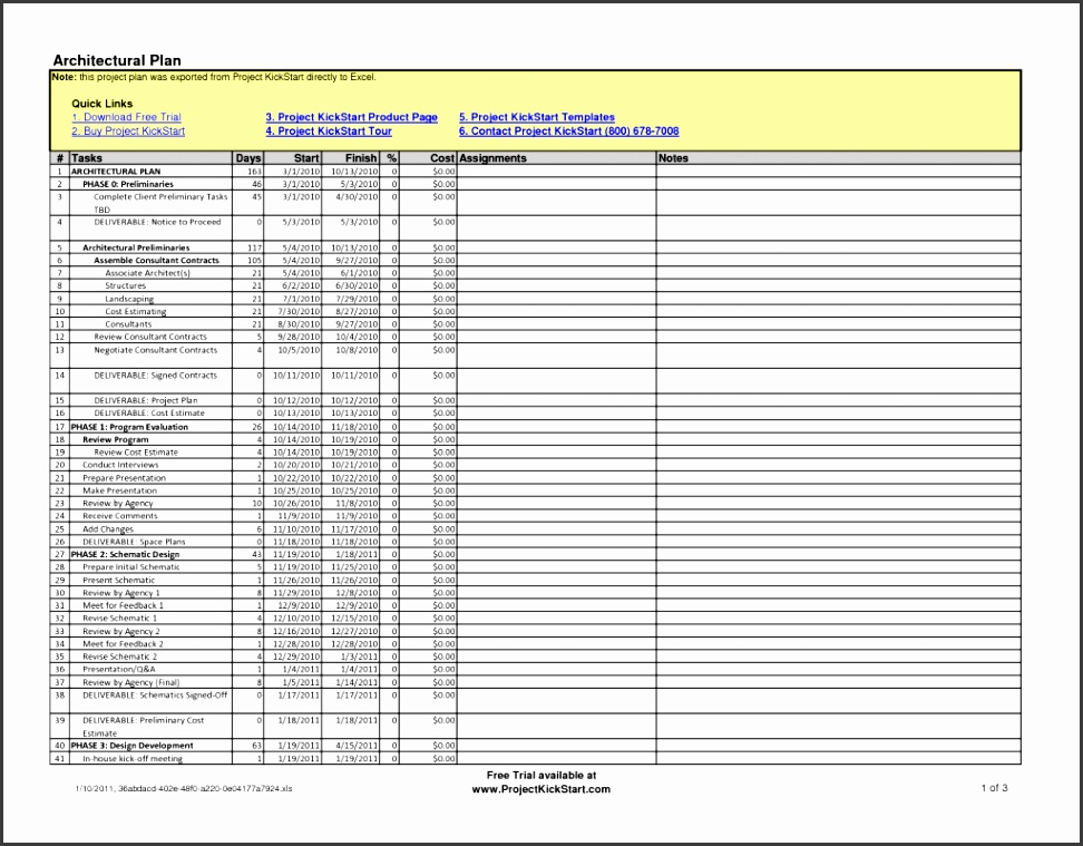 Excel Project Plan Templatess Microsoft Powerpoint Report Example