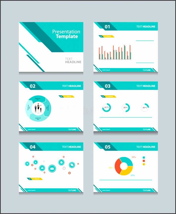 Download Business Presentation Template Set powerpoint Template Design Backgrounds Stock Vector Illustration