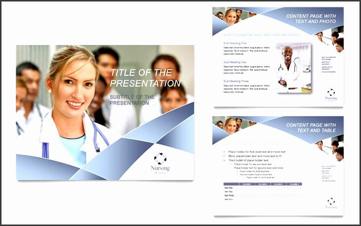 Nursing School Hospital PowerPoint Presentation Template Design