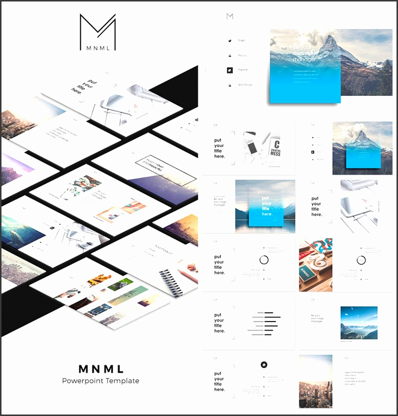 MNML Cool PowerPoint Template With Creative Designs