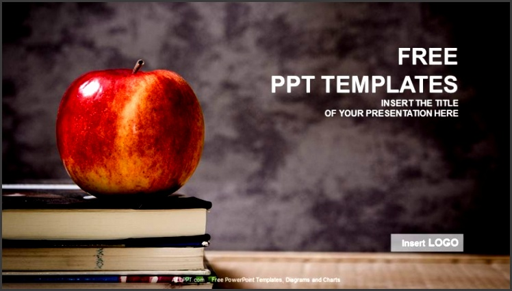 Apple And Book Education PPT Templates 1