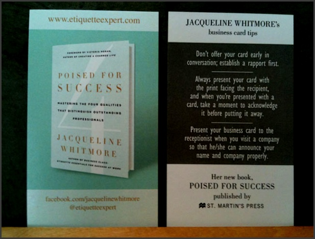 author business card ideas and examples
