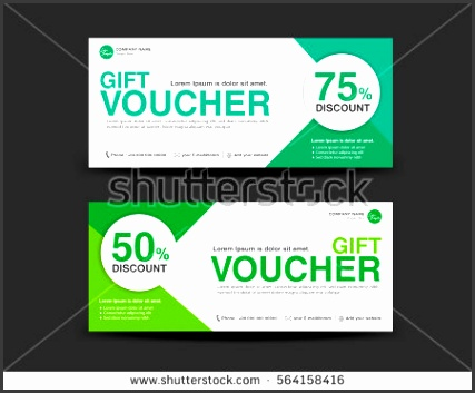 Green Discount Voucher template coupon design Gift ticket banner template printing