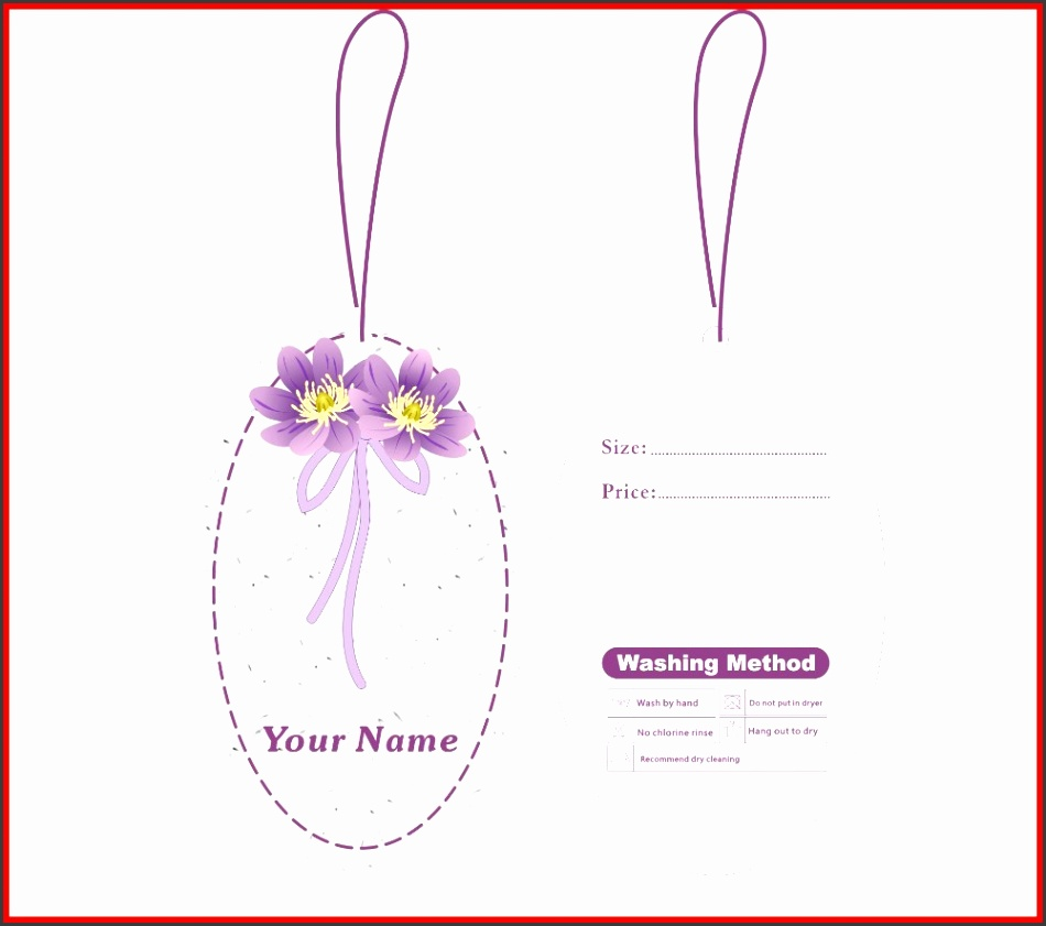 custom print hang tags price label template 006 custom special shape hang tags for your packing in Garment Tags from Home & Garden on Aliexpress