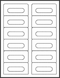 OL275 3 5 x 1 6562 Blank Label Template for Print Shop