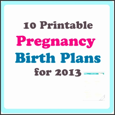 printable birth plan template