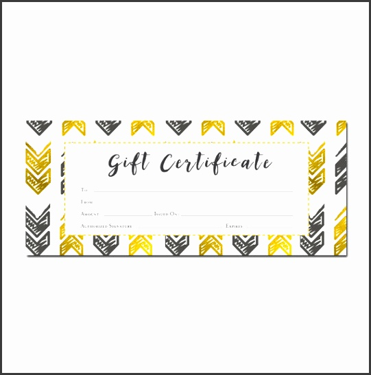 Gold Arrows Aztec Tribal Gift Certificate Premade customer appreciation Gift Certificate Template Printable Blank Gift Certificate