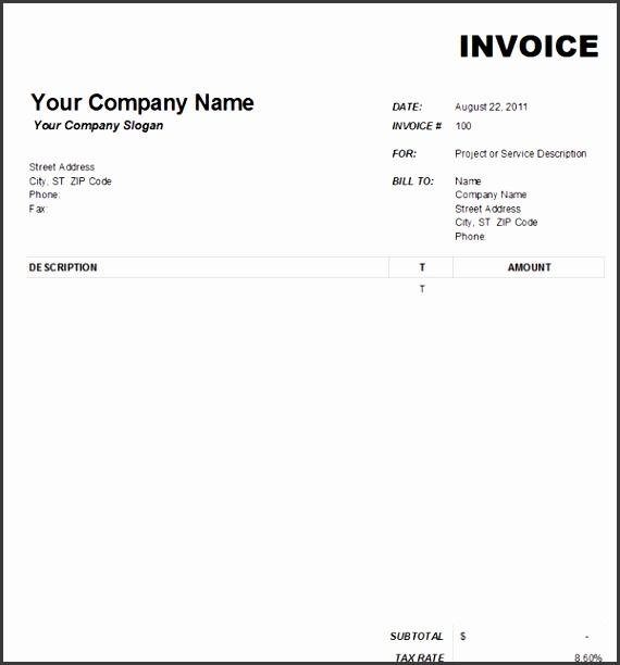 Printable Blank Invoice Template Pdf Good Looking Blank Invoice Template Sample For Excel And Microsoft Free