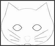 Cat mask to print out
