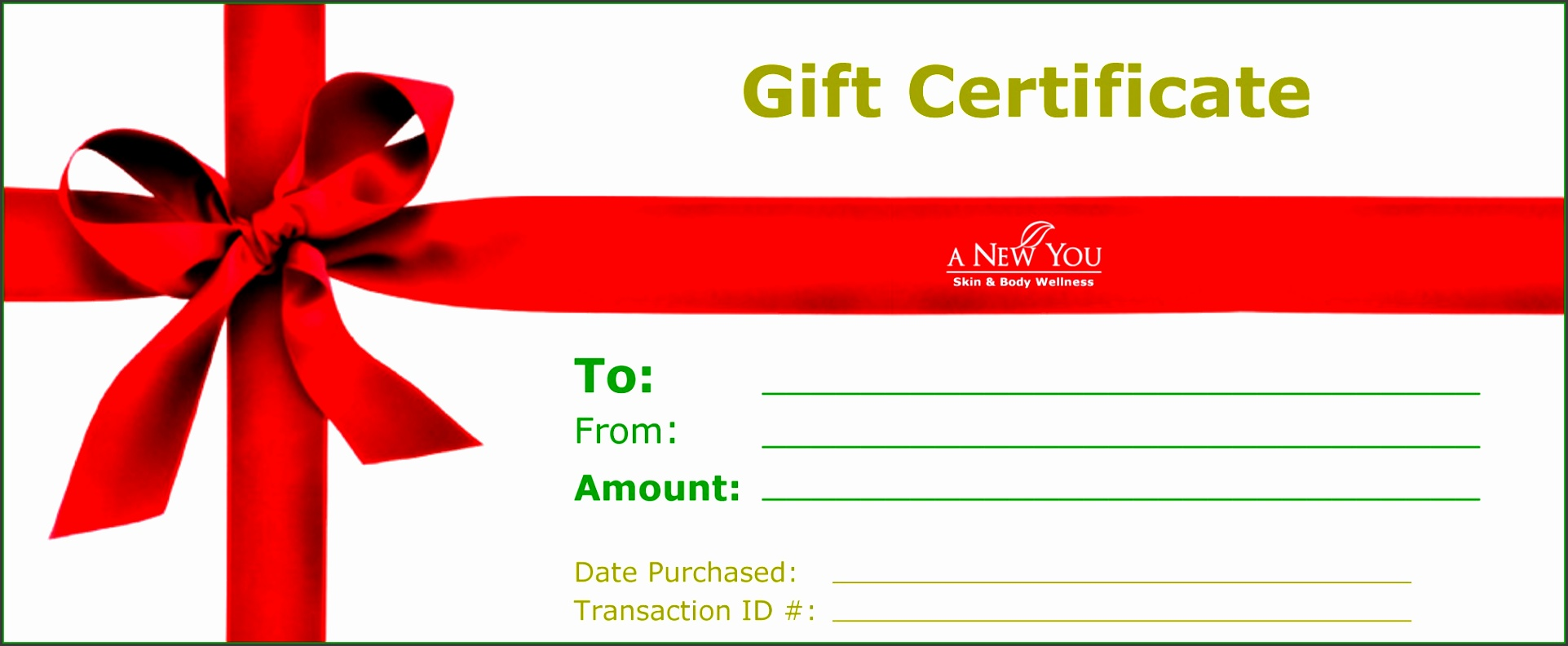 Our author has been published Printable and Blank Gift Certificate