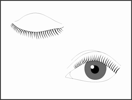 Human Eyes Outline Template