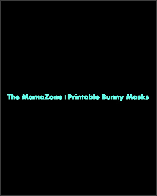 DIY Printable Rabbit Mask