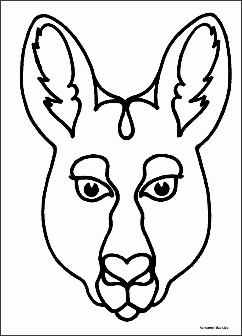 Pin Kangaroo Mask 140 Marvellous Free Printable Cow Masks For Adults 878x1207