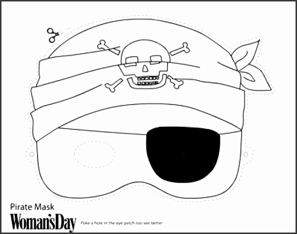 Colouring Halloween Masks Printable
