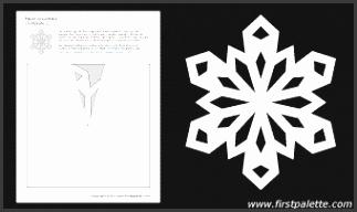 Paper snowflake template 2