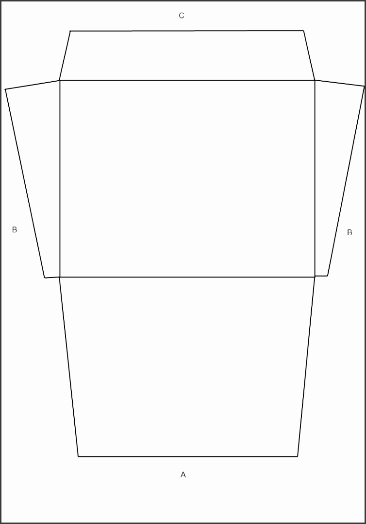 Download A 2 Envelope Template USA Size Announcement Style