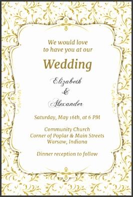 Wedding Invitation Template Rectangle Potrait Cream Floral Pattern Beautiful Wording Free Printable Wedding Invitation Templates Greetings Island
