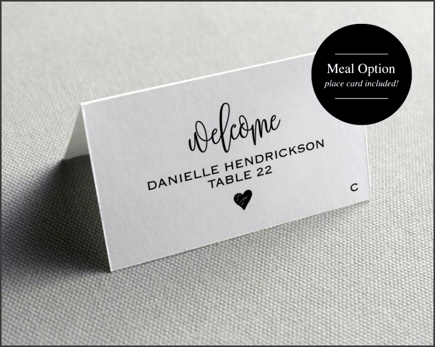 Place card Template Printable Template Wedding Place Cards Seating Cards Printable Template PDF Instant Download