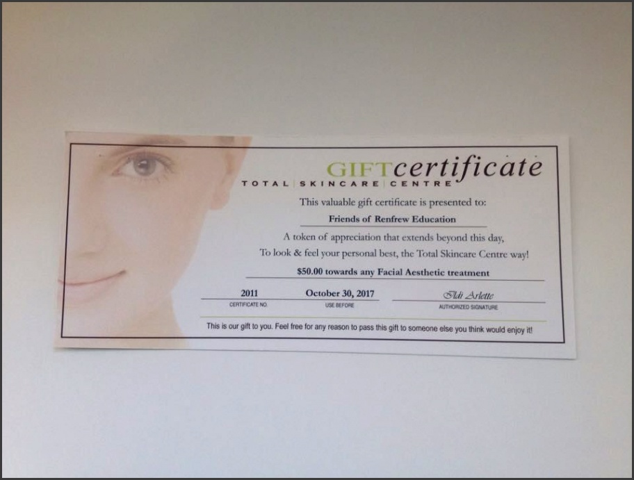 Gift Certificates Printing