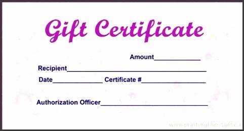 Cheap Gift Certificates Printing Toronto